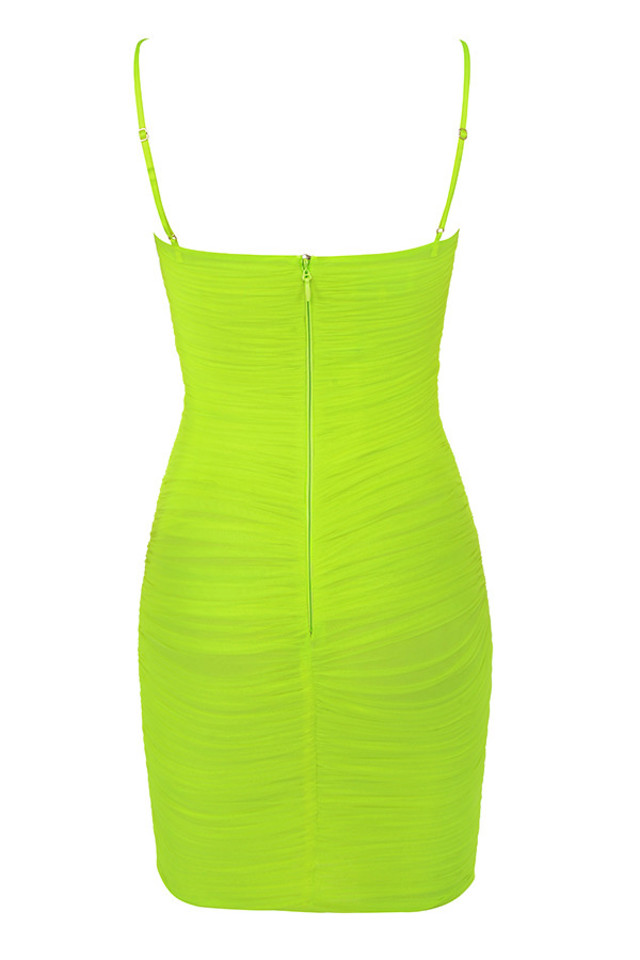 ella dress in neon
