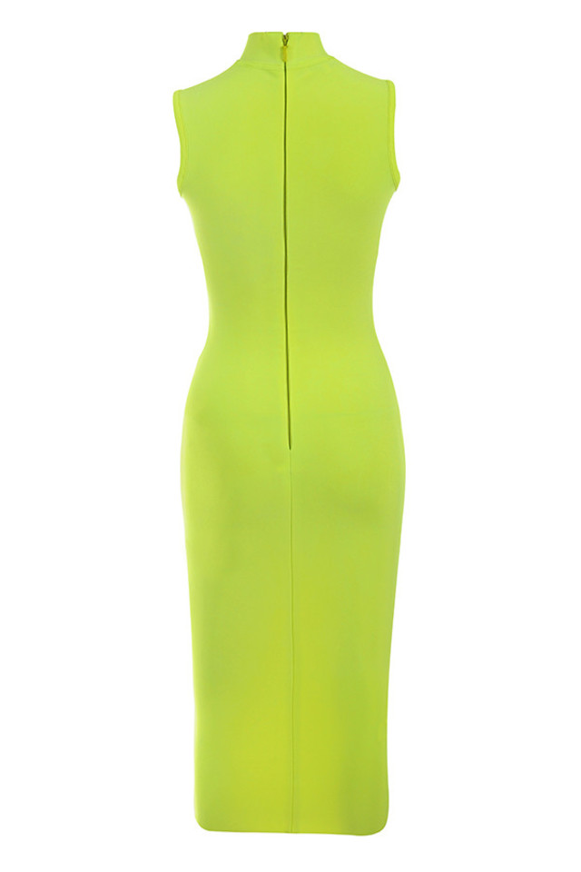 flavia dress in lime