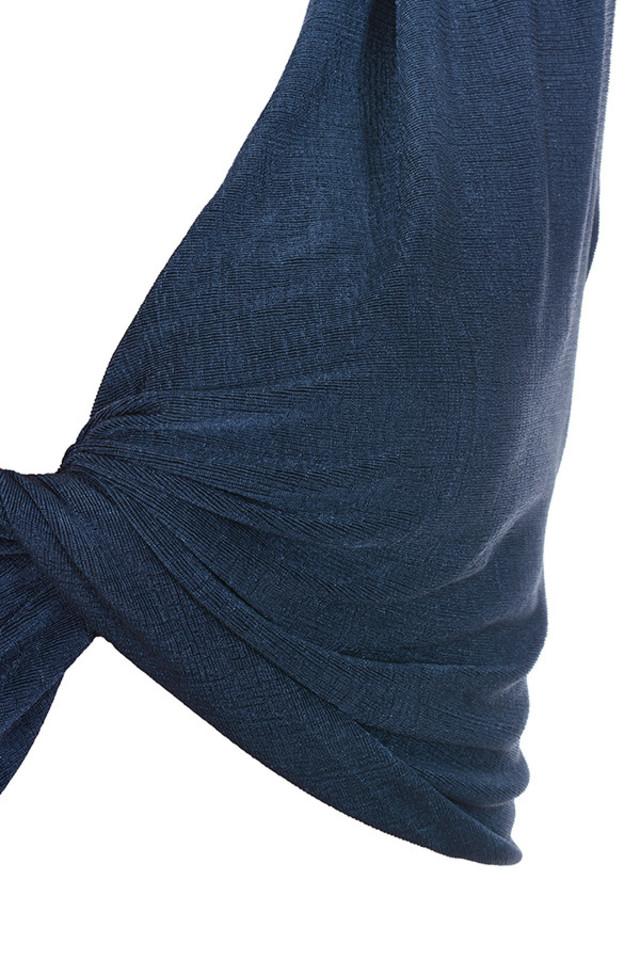 dark blue top