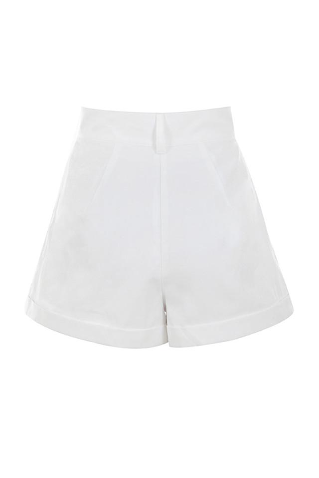 kiera shorts in white