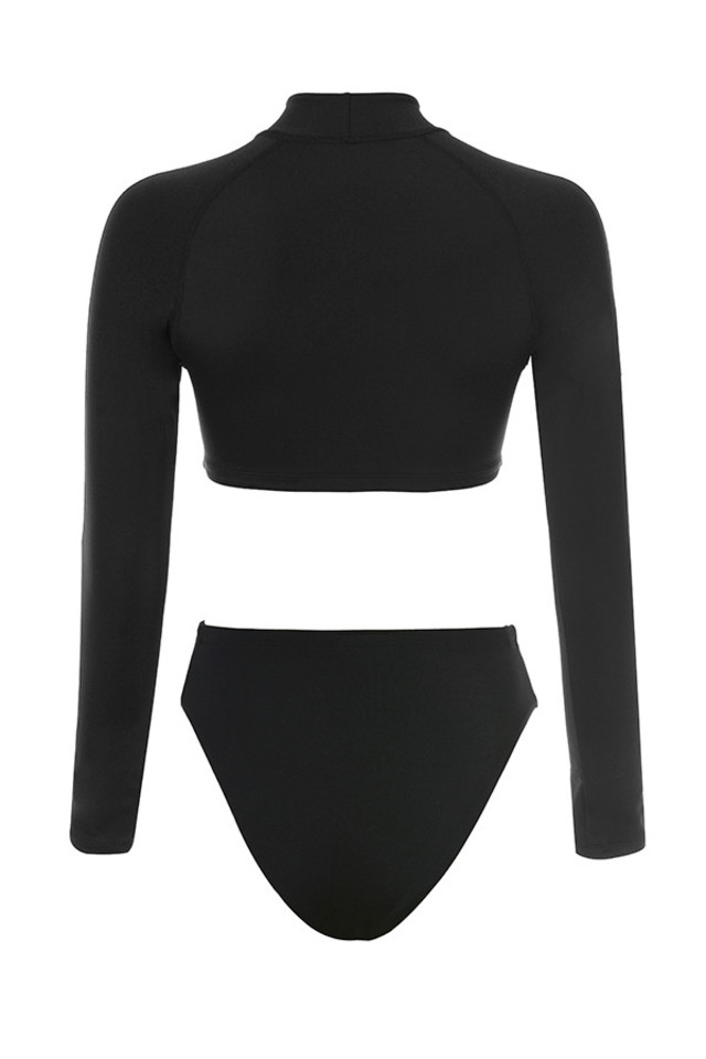 ravine bodysuit in black