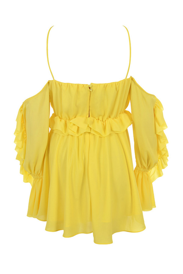 serenity dress in yellow