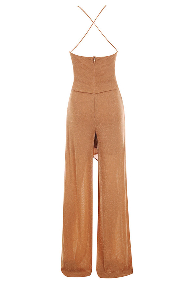 sienna jumpsuit in brown