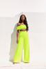 Marsha Neon Green Wide Leg Trousers