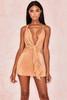 Kiki Tan Drape Mini Dress