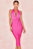 Marisa Fuchsia Bandage Drape Dress