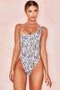 Venus Leopard Print One Shoulder One Piece Swimsuit