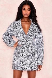 Marisha Dalmatian Print Shaped Blazer Dress