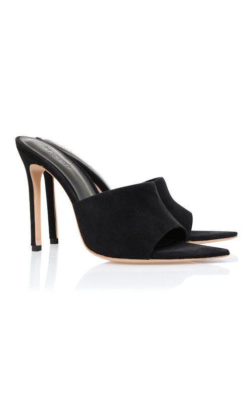 Andromeda Black Pointed Mule