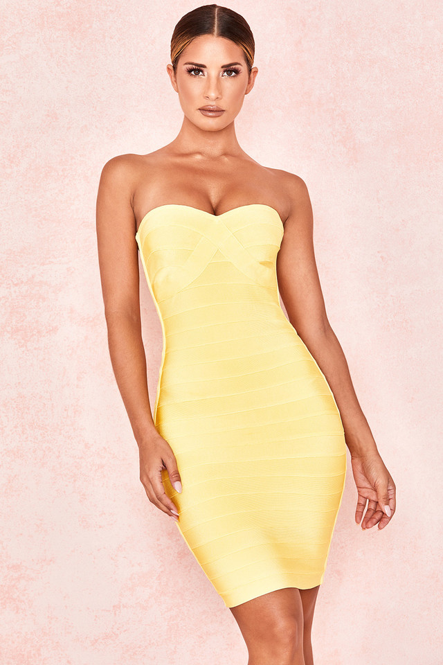 Chantelle Lemon Strapless Bandage Dress
