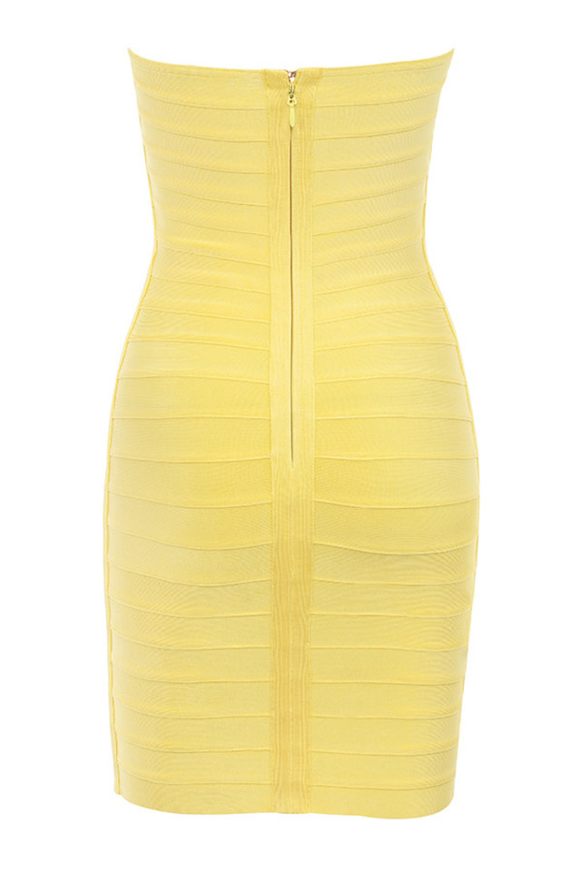chantelle dress in yellow