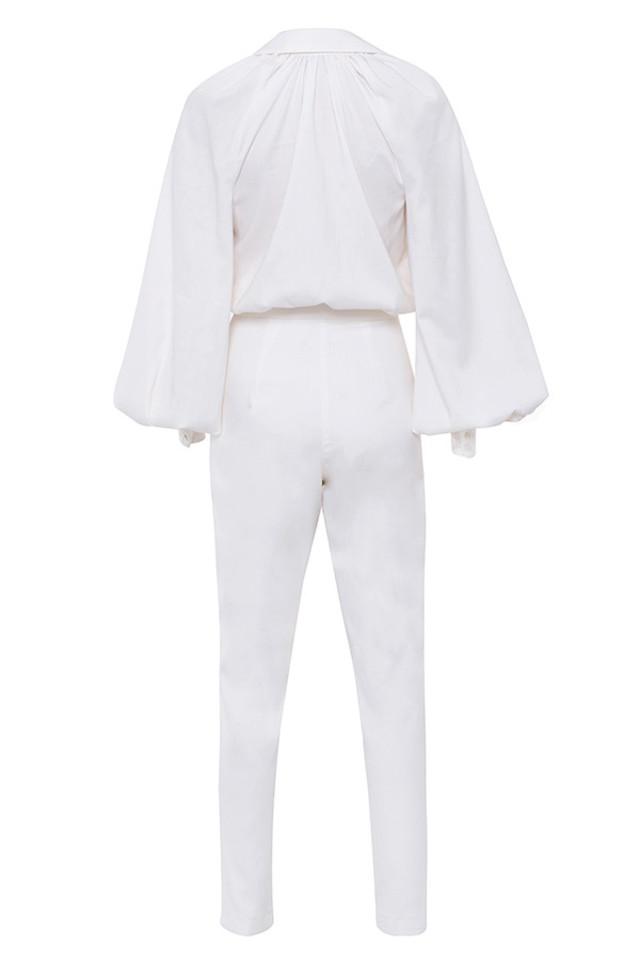delilah jumpsuit in white