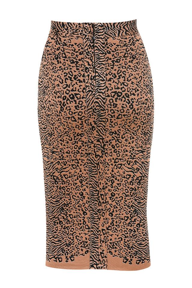 giannelli skirt in leopard