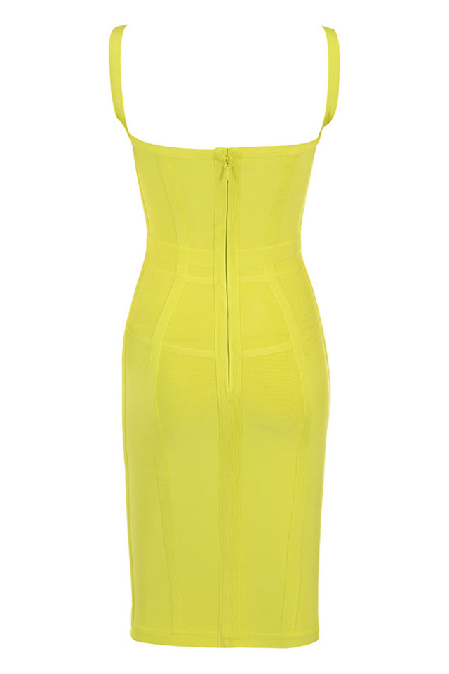 jianna dress in yellow