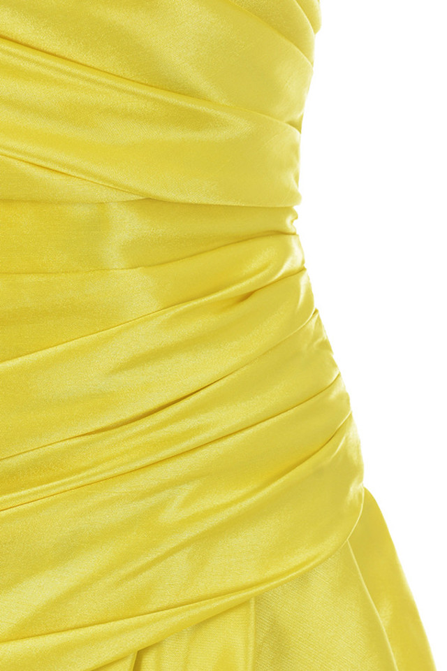 yellow margeurite dress