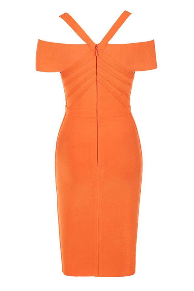 marianna dress in orange