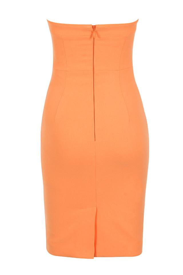 rinah dress in orange