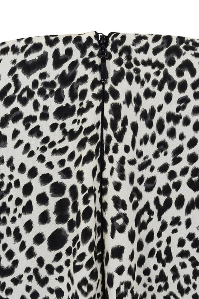 sandy leopard dress