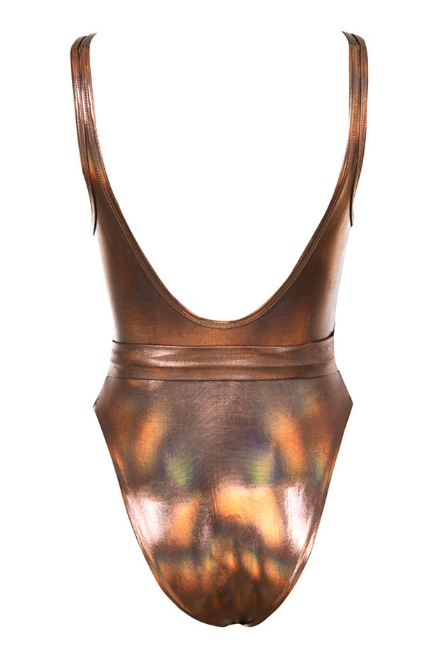 tigers eye bodysuit in amber
