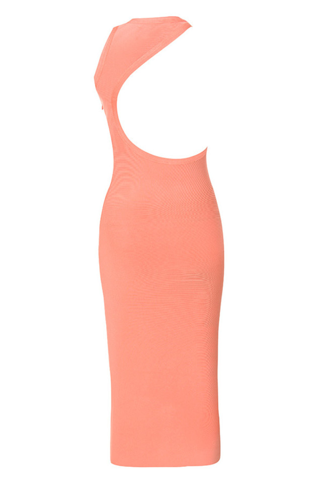 yasmine dress in peach