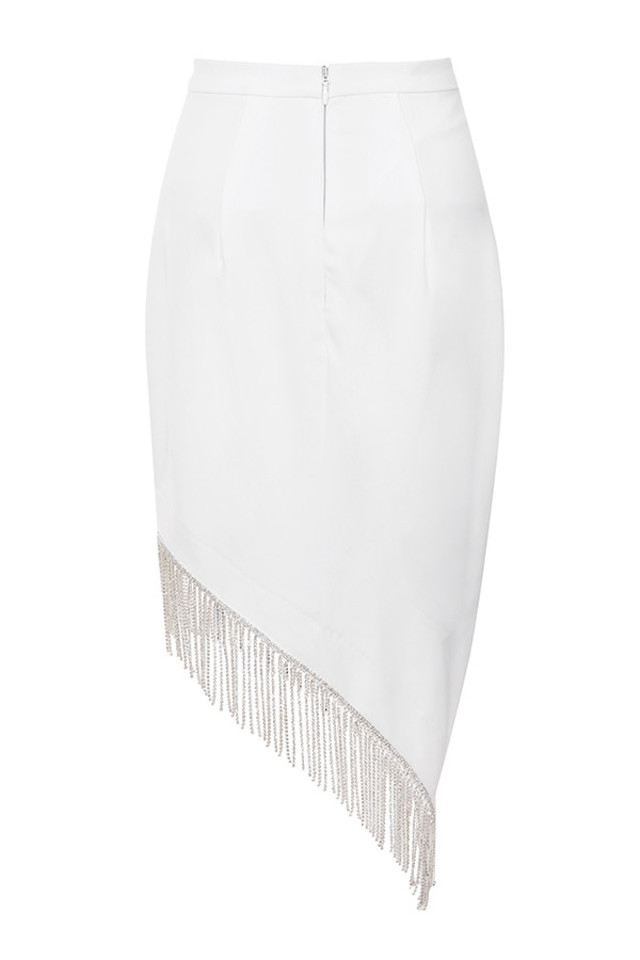 zoia skirt in white