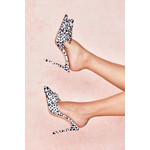 Beaubelle Dalmatian Print Oversized Bow Mules