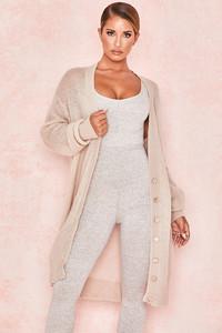 Loisette Mocha Mohair Oversized Cardigan