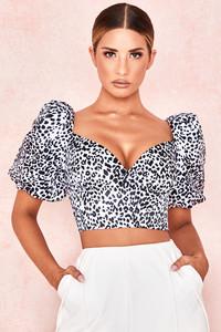 Lou Dalmatian Print Cropped Top