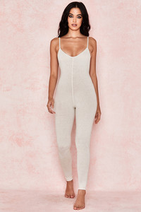 Zahara Milk Marl Low Back Jumpsuit