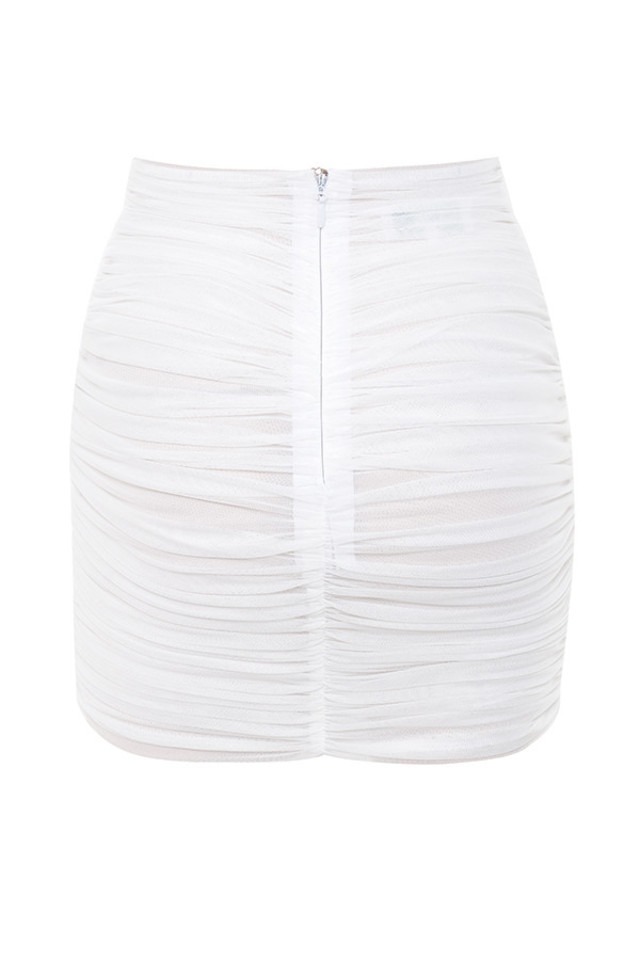 aubrey skirt in white
