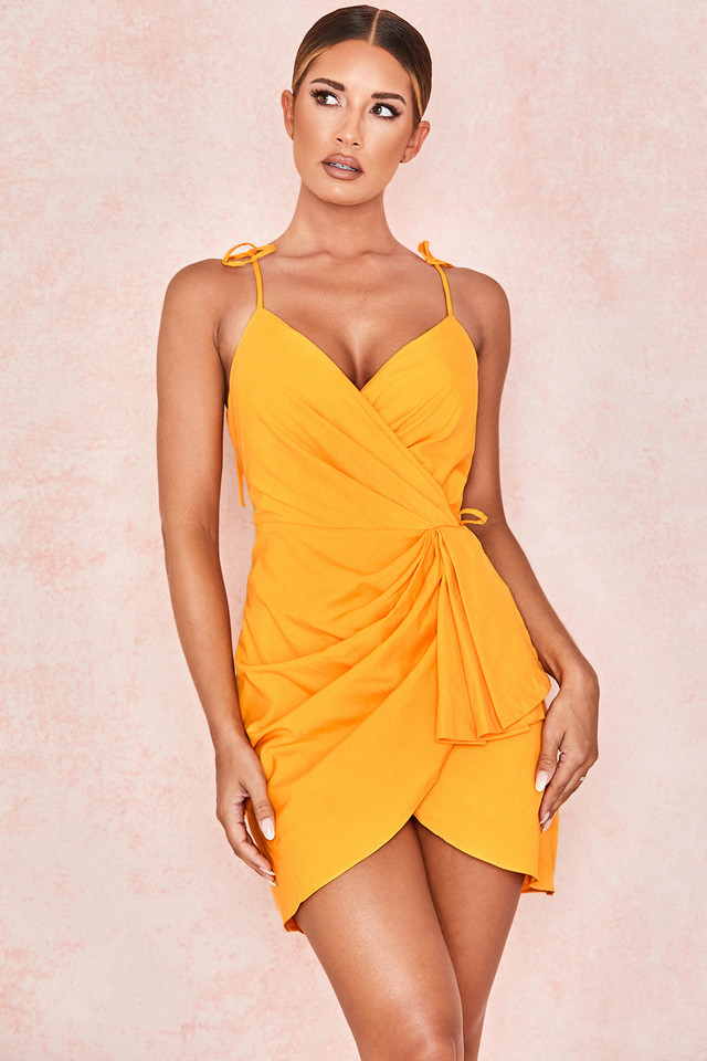 Carolina Mango Strappy Wrap Dress
