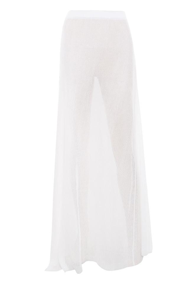 simeona skirt in white