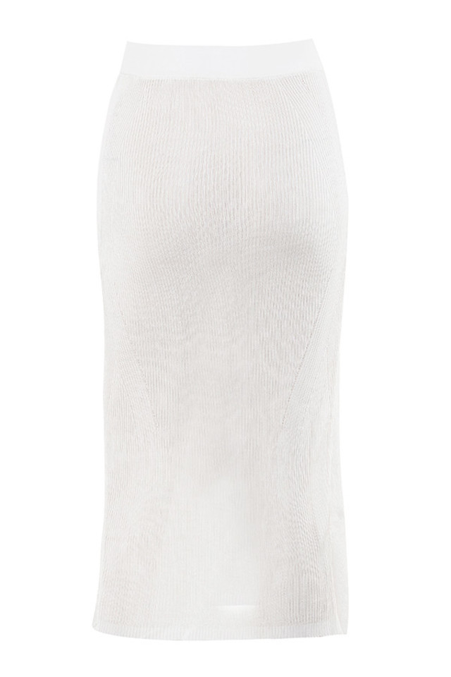 sukia skirt in white