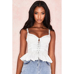 Bourgia White Frilled Corset Top