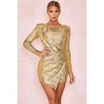 Lorelle Gold Sequinned Dress