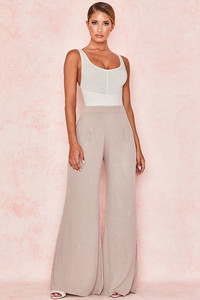 Elia Stone Soft Rib Knit Trousers