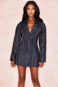 Etienne Dark Denim Sculpted Jacket