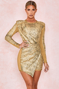 Lorelle Gold Sequinned Dress