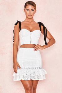 Louis Broderie Anglais Ruffle Mini Skirt