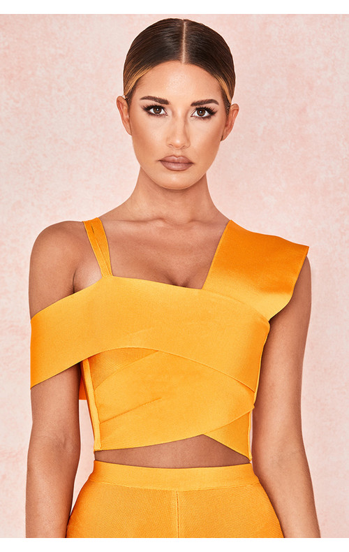 Melody Mango Panel Cropped Top