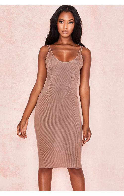 Ophir Mocha Rib Knit Vest dress