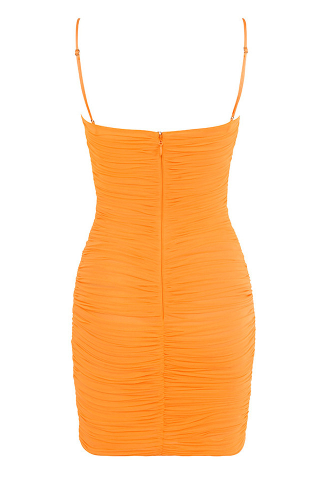 ella dress in orange