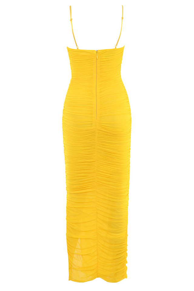 belle nuit dress in yellow
