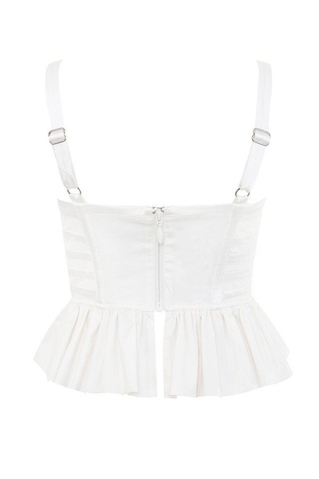 bourgia top in white