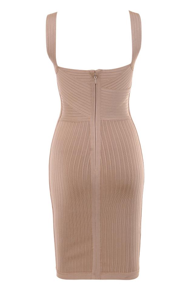 carlita dress in tan