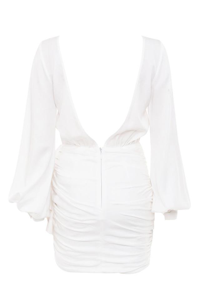 chambery dress in white