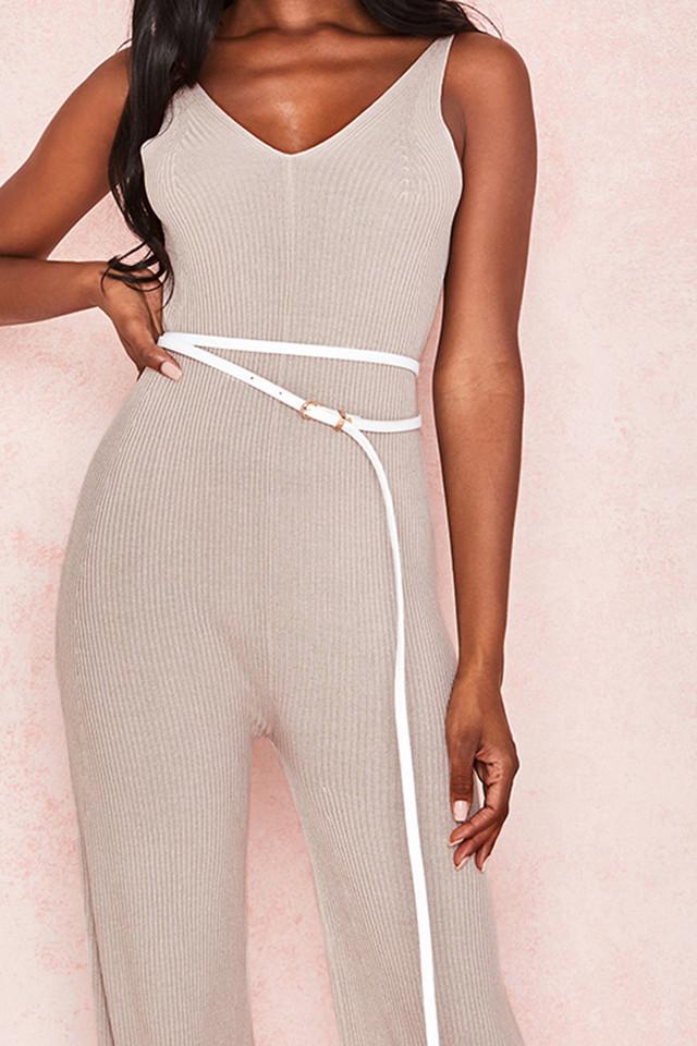 Cocoon White Skinny Wrap Around Belt