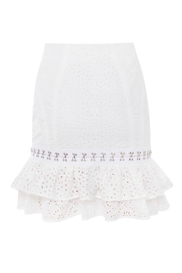 louis skirt in white