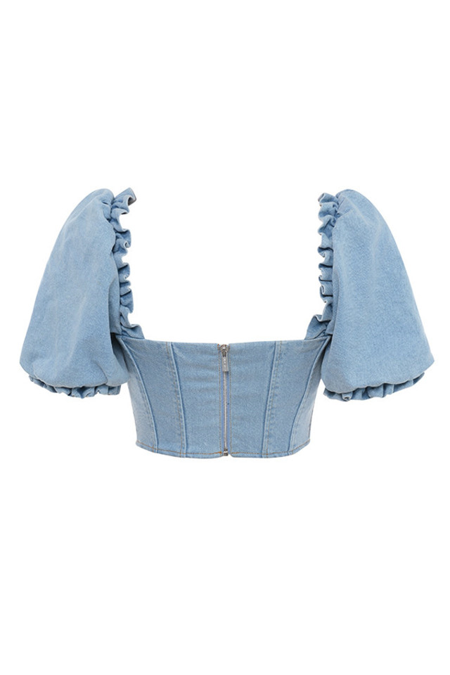 lulette top in denim