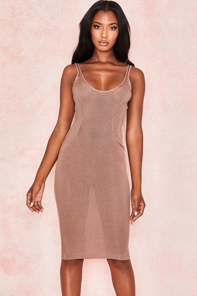 Ophir Mocha Rib Knit Vest dress